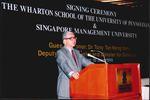 Wharton-SMU Research Centre Agreement